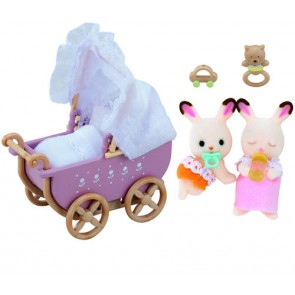 992206_chocolate_rabbit_twins_set_pram_content