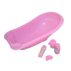 Mini Mommy - Dukketilbehoer - Badekar til dukker med flere forskellige slags tilbehoer - 83048
